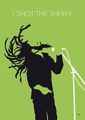 No016 My Bob Marley Minimal Music Poster Poster by Chungkong Art