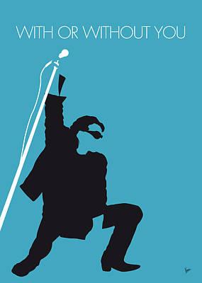 No035 My U2 Minimal Music Poster Poster by Chungkong Art