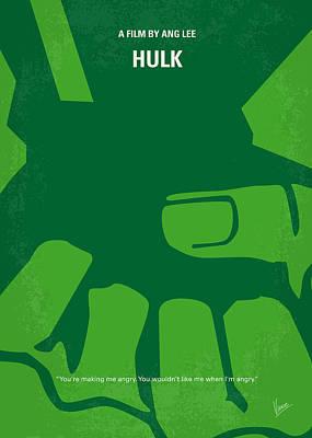 No040 My Hulk Minimal Movie Poster Poster by Chungkong Art