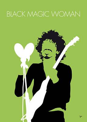 No046 My Santana Minimal Music Poster Poster by Chungkong Art
