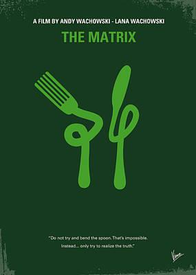 No093 My The Matrix Minimal Movie Poster Poster by Chungkong Art