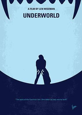 No122 My Underworld Minimal Movie Poster by Chungkong Art