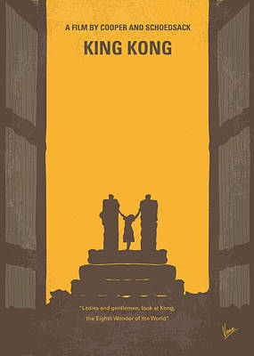 No133 My King Kong Minimal Movie Poster Poster by Chungkong Art