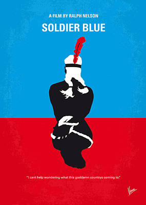 No136 My Soldier Blue Minimal Movie Poster Poster by Chungkong Art