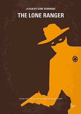 No202 My The Lone Ranger Minimal Movie Poster Poster by Chungkong Art