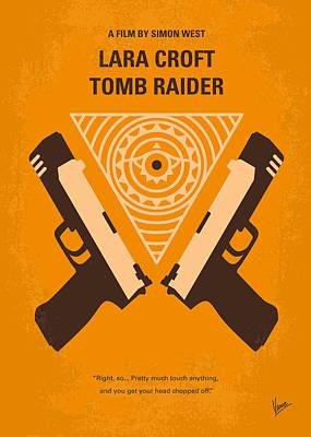 No209 Lara Croft Tomb Raider Minimal Movie Poster Poster by Chungkong Art