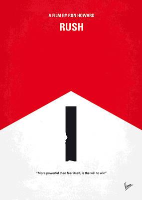 No228 My Rush Minimal Movie Poster Poster by Chungkong Art