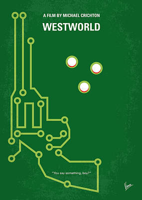 No231 My Westworld Minimal Movie Poster Poster by Chungkong Art