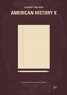 No247 My American History X Minimal Movie Poster Poster by Chungkong Art
