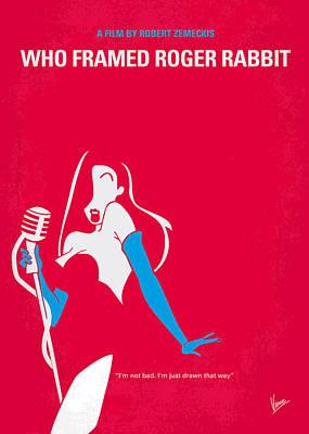 No271 My Roger Rabbit Minimal Movie Poster Poster by Chungkong Art