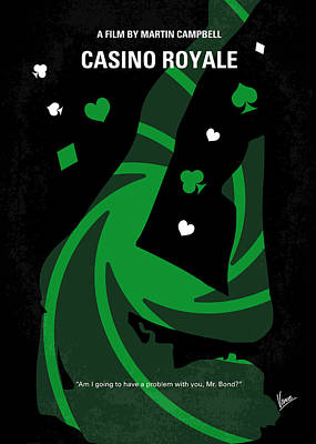 No277-007-2 My Casino Royale Minimal Movie Poster Poster by Chungkong Art