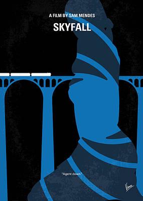 No277-007-2 My Skyfall Minimal Movie Poster Poster by Chungkong Art