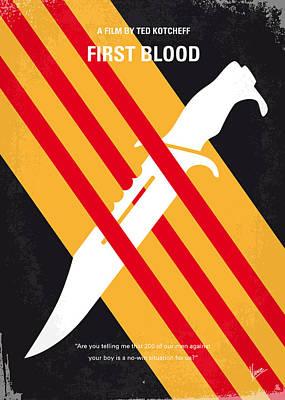 No288 My Rambo First Blood Minimal Movie Poster Poster by Chungkong Art