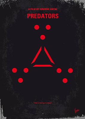 No289 My Predators Minimal Movie Poster Poster by Chungkong Art