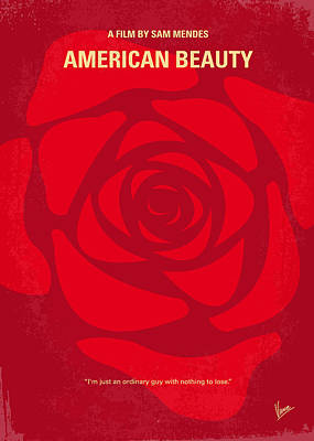 No313 My American Beauty Minimal Movie Poster Poster by Chungkong Art