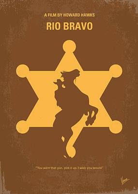 No322 My Rio Bravo Minimal Movie Poster Poster by Chungkong Art