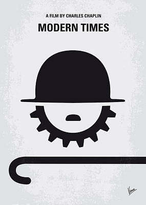 No325 My Modern Times Minimal Movie Poster Poster by Chungkong Art