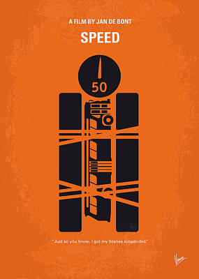 No330 My Speed Minimal Movie Poster Poster by Chungkong Art