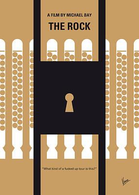 No339 My The Rock Minimal Movie Poster Poster by Chungkong Art