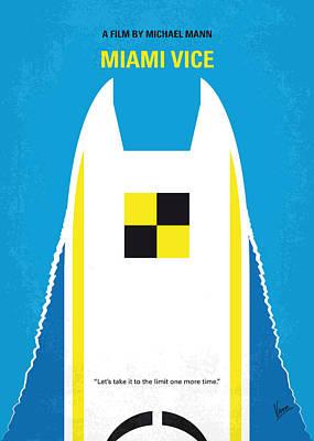 No351 My Miami Vice Minimal Movie Poster Poster by Chungkong Art