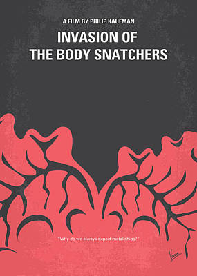 No374 My Invasion Of The Body Snatchers Minimal Movie Poster by Chungkong Art