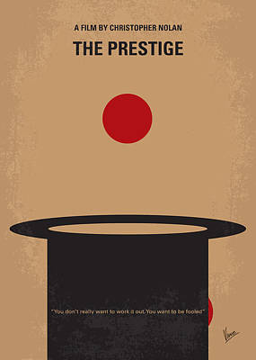 No381 My The Prestige Minimal Movie Poster Poster by Chungkong Art