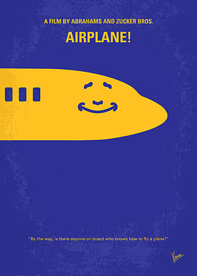 No392 My Airplane Minimal Movie Poster Poster by Chungkong Art