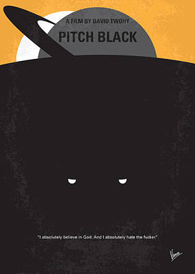 No409 My Pitch Black Minimal Movie Poster Poster by Chungkong Art
