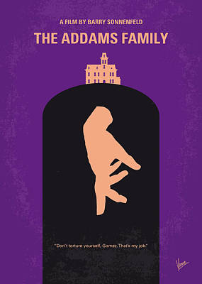 No423 My The Addams Family Minimal Movie Poster Poster by Chungkong Art