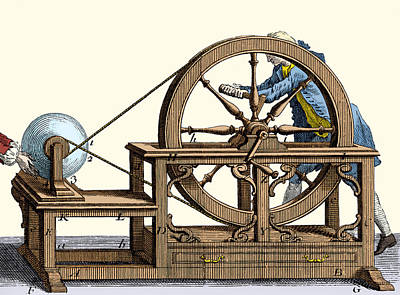 Nollet Electrostatic Machine, 1750 Poster by Wellcome Images