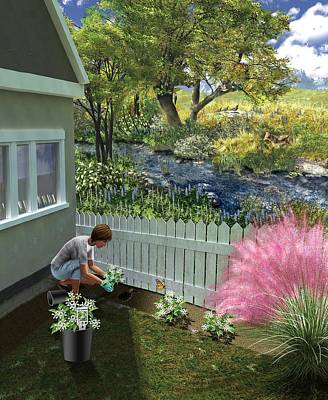 Non-invasive Garden Plants Poster by Nicolle R. Fuller