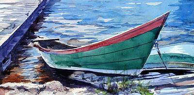 North Shore Fishing Skiff Poster by Spencer Meagher