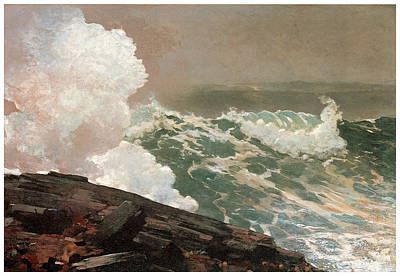 Northeaster Poster by Winslow Homer