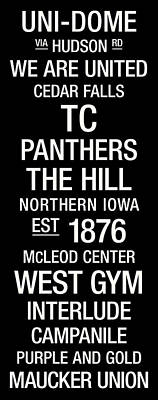 Northern Iowa College Town Wall Art Poster by Replay Photos