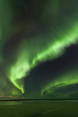 Northern Lights Lofoten Islands Norway Poster by Sandra Schaenzer