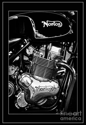 Norton Commando 961 Sport Monochrome Poster by Tim Gainey