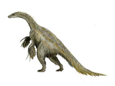 Nothronychus Dinosaur Poster by Nobumichi Tamura