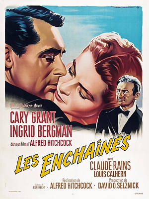 Notorious, Aka Les Enchaines, Spanish Poster by Everett