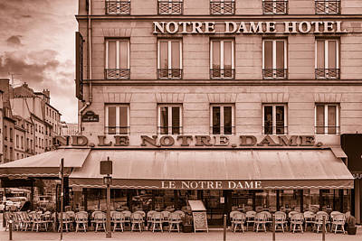 Notre Dame Hotel - Toned Poster by Georgia Fowler