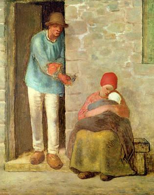 Nourishment, 1858 Poster by Jean-Francois Millet