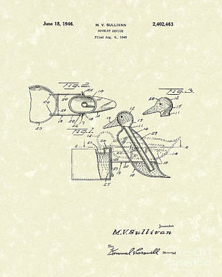 Novelty Duck 1946 Patent Art Poster by Prior Art Design