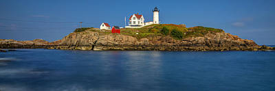 Nubble Light And A Clear Blue Sky Poster by Scott Lynde