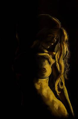 Nude - Chiaroscuro Poster by Dorina  Costras