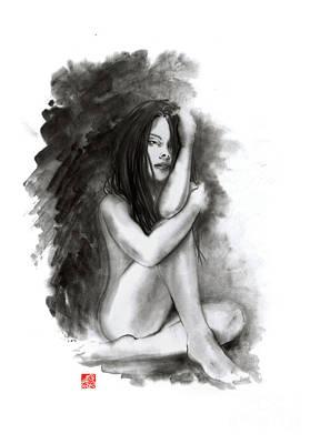 Nude Girl Poster by Mariusz Szmerdt