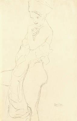 Nude Poster by Gustav Klimt