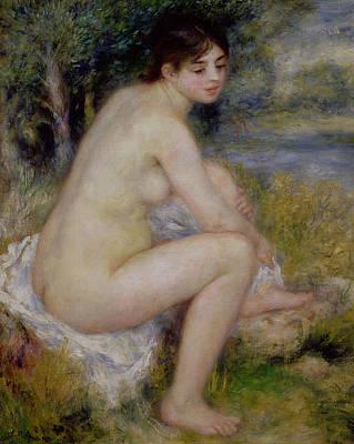 Nude In A Landscape Poster by Pierre Auguste Renoir