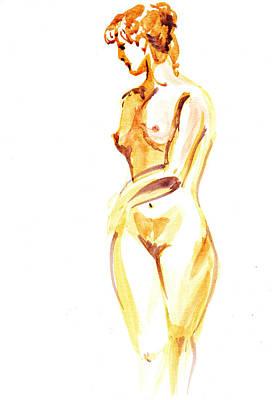 Nude Model Gesture II Poster by Irina Sztukowski