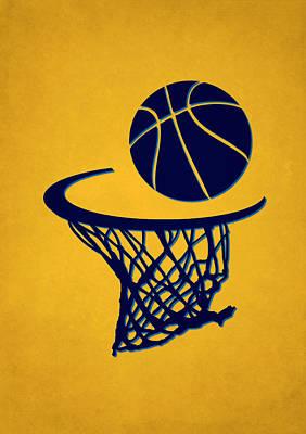 Nuggets Team Hoop2 Poster by Joe Hamilton