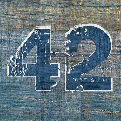Number 42 Poster by Michelle Calkins