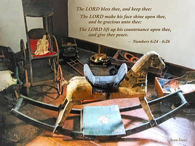 Numbers 6 24-26 The Lord Bless Thee And Keep Thee Poster by Susan Savad
